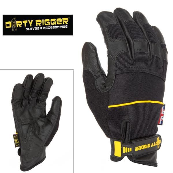 Перчатки Dirty Rigger Leather Grip (Full Handed)